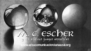 Tres esferas II (1946), litografía de M. C. Escher