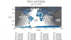 Eclipse total de Luna del 31 de enero de 2018
